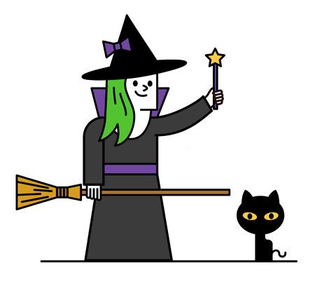 witchery: Vector illustration - halloween costume character