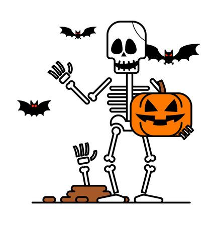 Halloween Skelett Charakter.