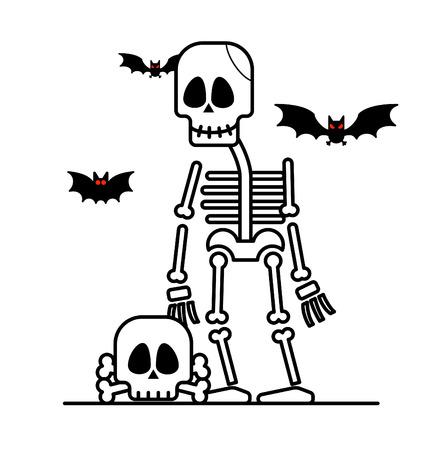 of helloween: Halloween skeleton character.