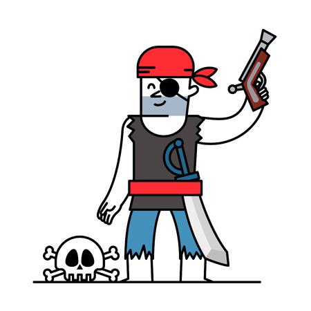 filibuster: cartoon pirate Character