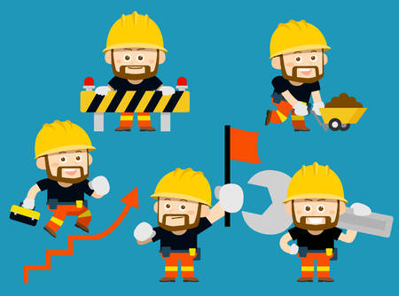 Vector illustration - cartoon worker character