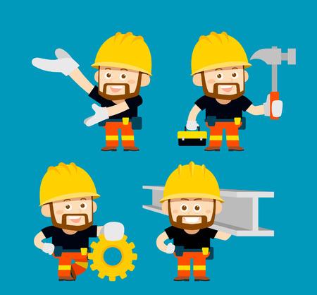metal worker: Vector illustration - cartoon character of worker, builder