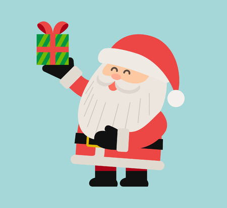 red happiness: Vector illustration - Character of Santa Claus
