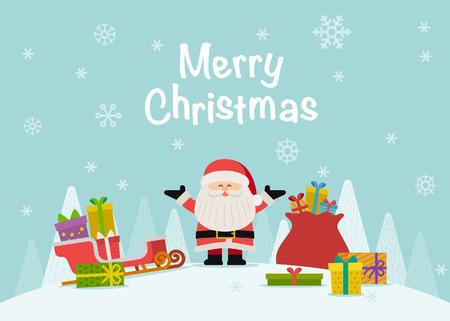 Vector illustratie -Xmas kaart voor Happy Christmas metgezellen