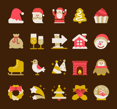christmas icon: Vector illustration - Christmas icon set