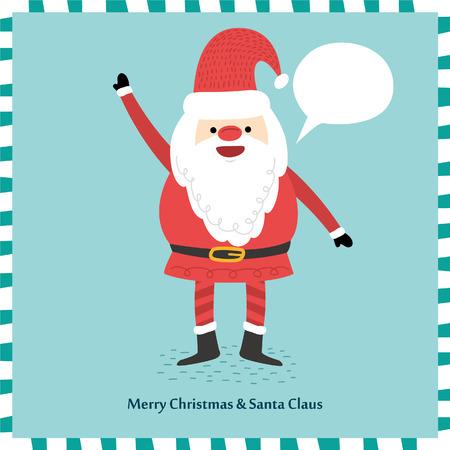blank space: Vector Santa Claus Portrait. Blank space