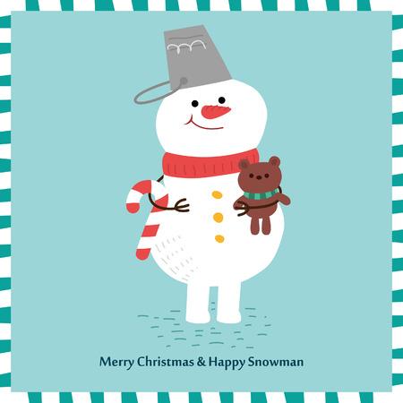 snowman vector: Snowman vector design. Illustration