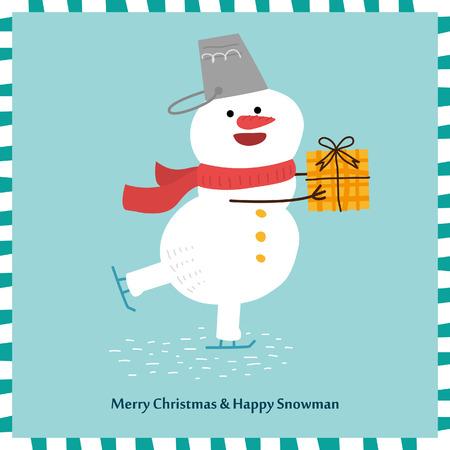 snowman vector: Cute Snowman. Vector Illustration Illustration