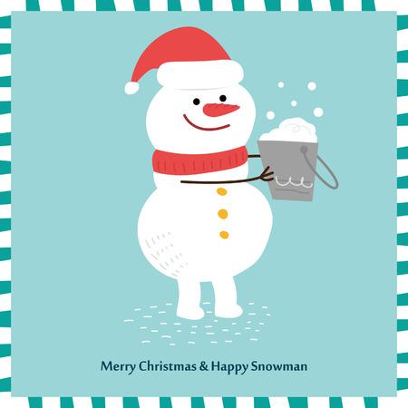 snowman vector: Snowman vector design.