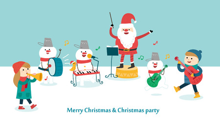 happy christmas: Happy Christmas Party. Vector illustration