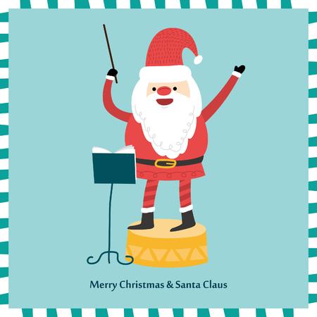 Vector Portret van de Kerstman. Illustratie Stock Illustratie