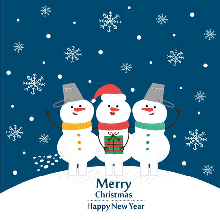 new year's card: Christmas and New Years card. Vector illustration Illustration