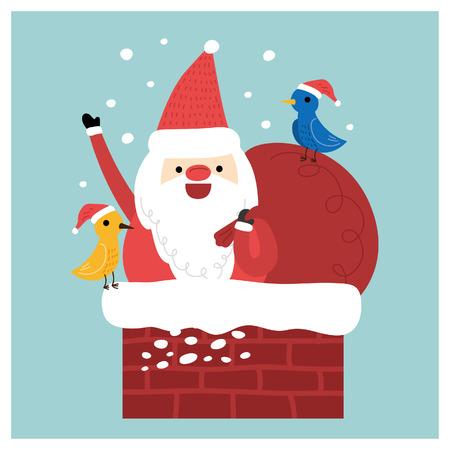 Vector illustratie - Karakter van de Kerstman