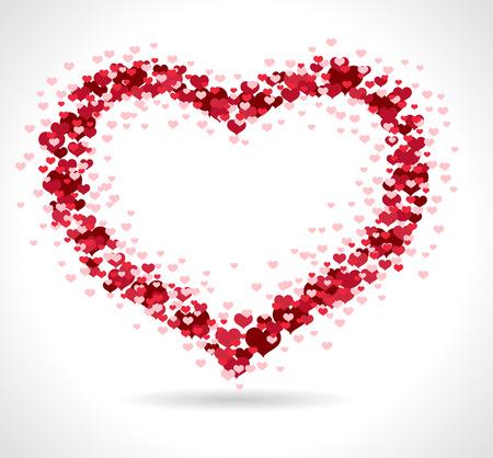 Love heart - Vektor-Illustration