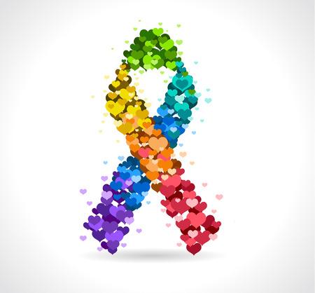 Rainbow Ribbon - Vector illustratie Stock Illustratie