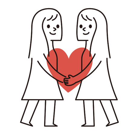 hugging: Vector illustration -. Happy Couple Valentines Day
