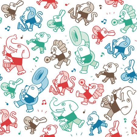 dierlijke spelen music.vector achtergrond Stock Illustratie
