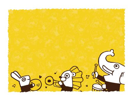 dierlijke spelen music.vector lege ruimte