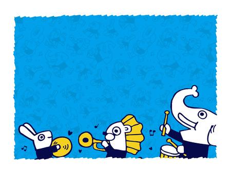 blank space: animal play music.vector blank space