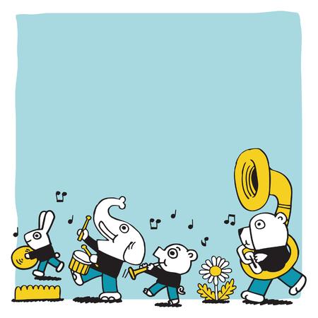 동물 놀이 music.vector 빈 공간