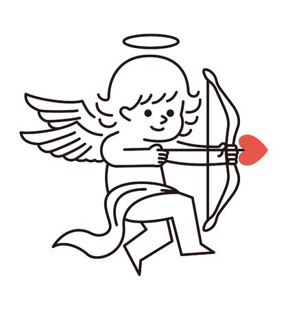 Vector illustratie - Cupido Liefde Hoek Stock Illustratie