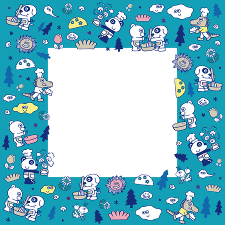 Dieren koeling - vectorillustratie Stock Illustratie