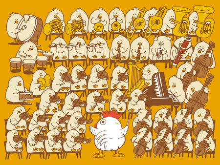 Vector illustration - Kip Symphonic Orchestra.