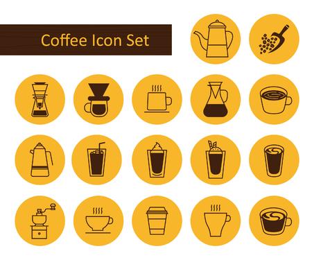 koffie icon set.vector afbeelding