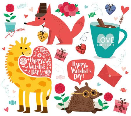 Valentijnsdag icon.vector illustratie. Stock Illustratie