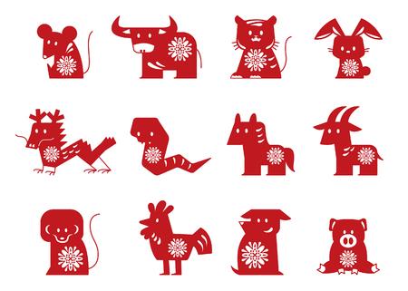 zodiac icon set. vector illustration Illustration