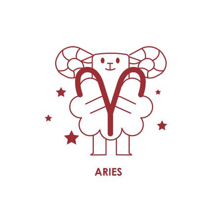 Teken Aries Zodiac Horoscope .vector illustratieachtergrond Stock Illustratie
