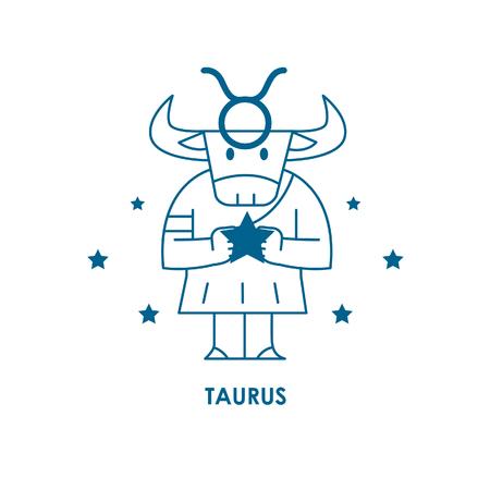 Teken Taurus Zodiac Horoscope .vector illustratieachtergrond