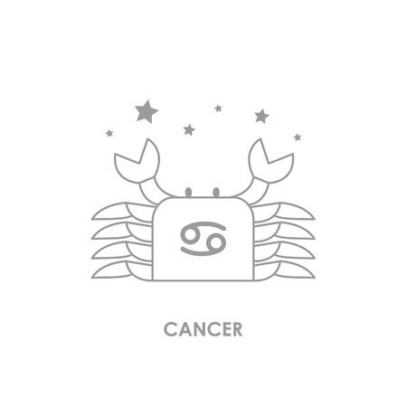 Teken Kanker Zodiac Horoscoop. Vector illustratie achtergrond Stock Illustratie
