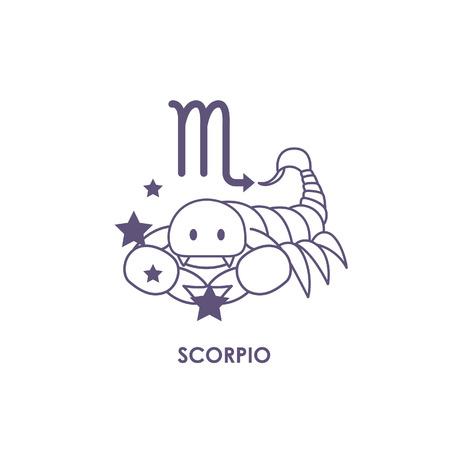 Teken Scorpio Zodiac Horoscope .vector illustratieachtergrond