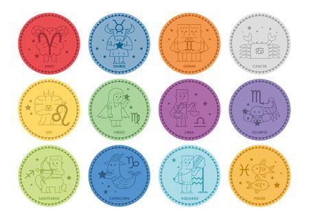 Zodiac icon set - Vector illustratie