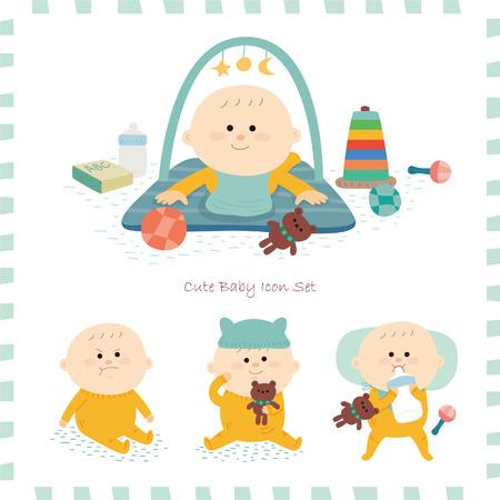 Baby pictogram set.vector illustratie Stockfoto - 72411903