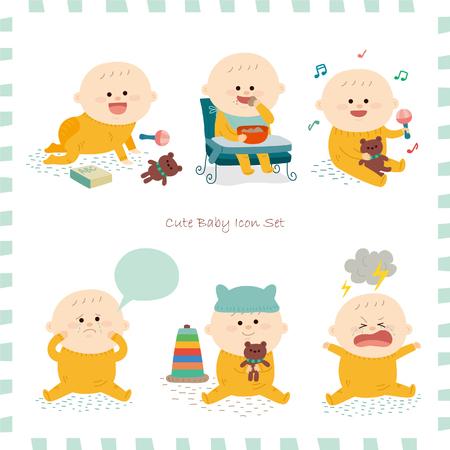 Baby pictogram set.vector illustratie Stock Illustratie