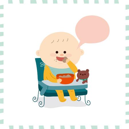 Leuke baby boy.vector illustratie Stockfoto - 72660737