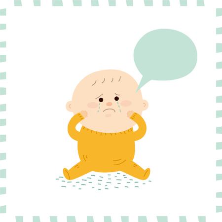 baby: Cute baby boy.vector illustration