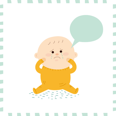 Cute baby boy.vector illustration