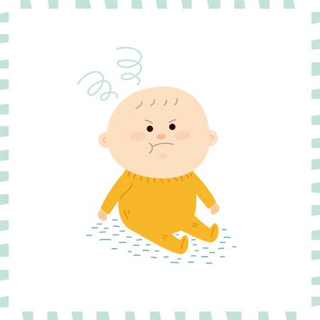 Leuke baby boy.vector illustratie Stockfoto - 72661419