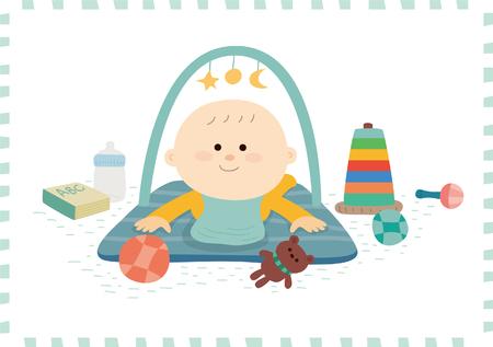 Leuke baby boy.vector illustratie Stockfoto - 72661426