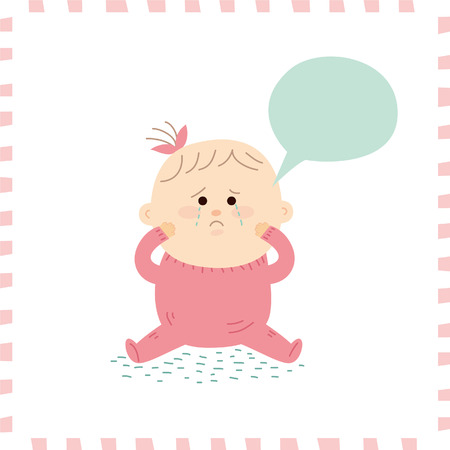 cute baby girl.vector illustration Illustration