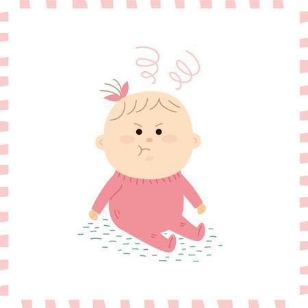 Schattige baby girl.vector illustratie