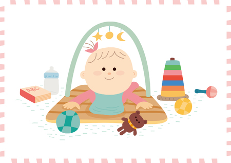 baby toy: Cute baby girl.vector illustration Illustration