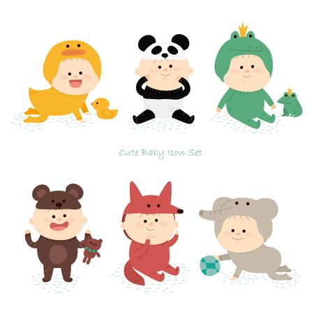 Baby pictogram set.vector illustratie Stockfoto - 72661853