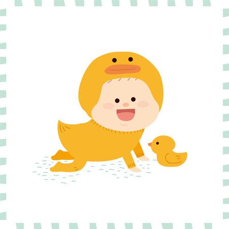 乳幼児: かわいい赤ちゃん boy.vector 図  イラスト・ベクター素材