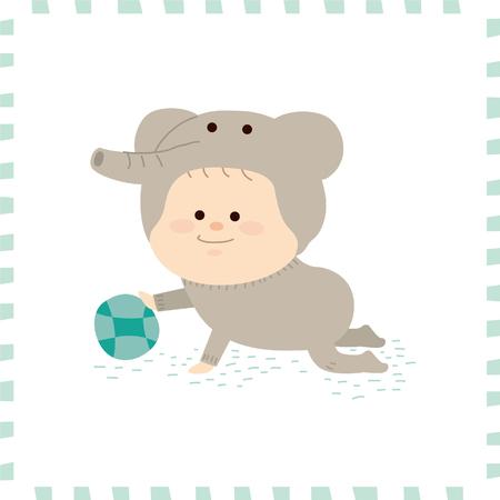Leuke baby boy.vector illustratie Stockfoto - 72662563