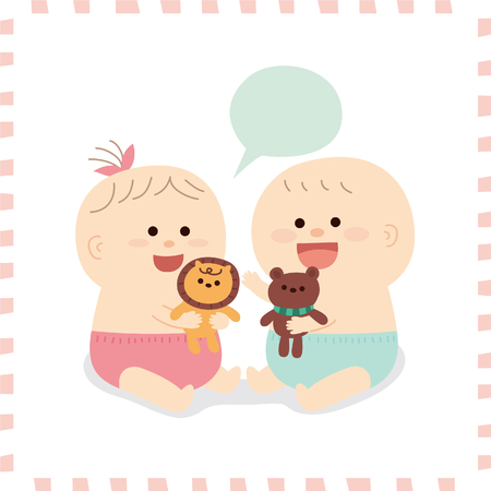 cute baby. vector illustration