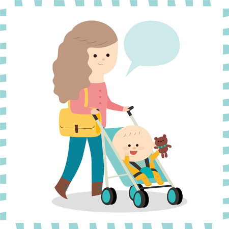 interesting: Cute baby boy vector illustration.